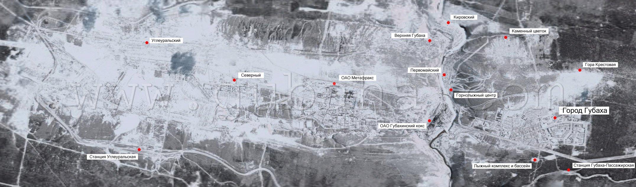 Спутниковая карта Губахи